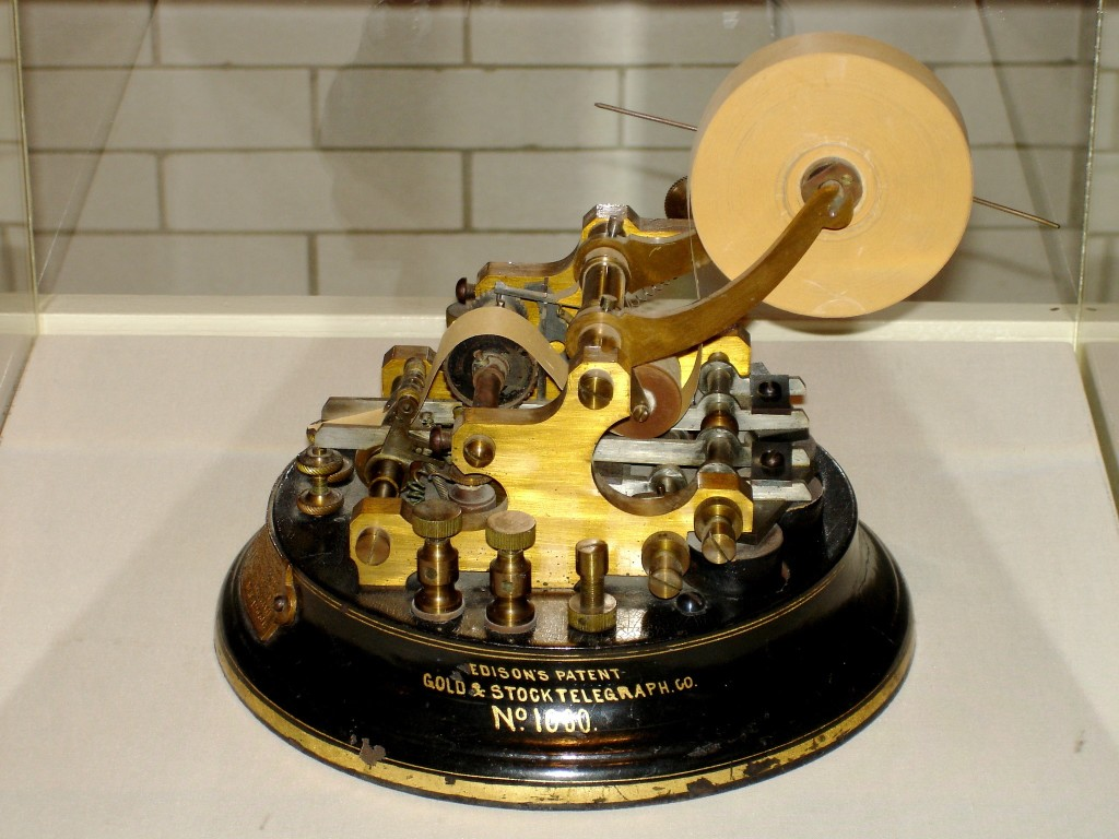 Thomas Edison's Ticker Machine
